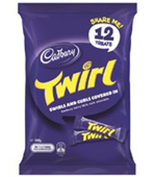 Cadbury Twirl Sharepack, by Cadbury,  and more Confectionery at The Professors Online Lolly Shop. (Image Number :9221)
