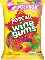 Pascall Wine Gums (260g bag x 18pc box)