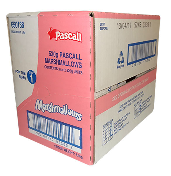 Pascall Marshmallows - Raspberry and Vanilla, by Pascall,  and more Confectionery at The Professors Online Lolly Shop. (Image Number :9849)