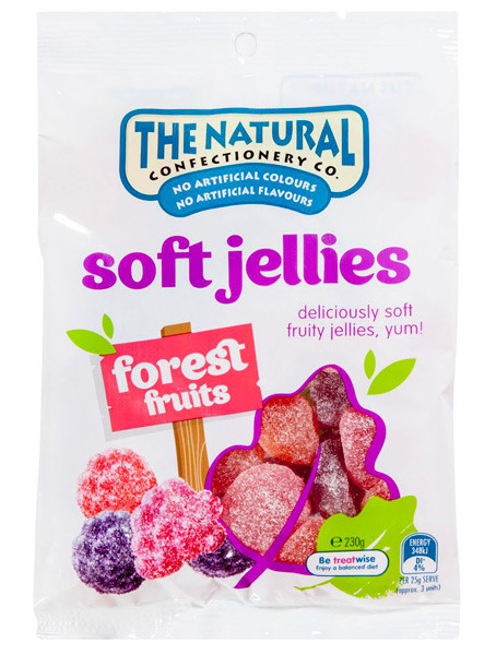 The Natural Confectionery Co. - Soft Jellies - Forest Fruits, by The Natural Confectionery Co.,  and more Confectionery at The Professors Online Lolly Shop. (Image Number :9303)
