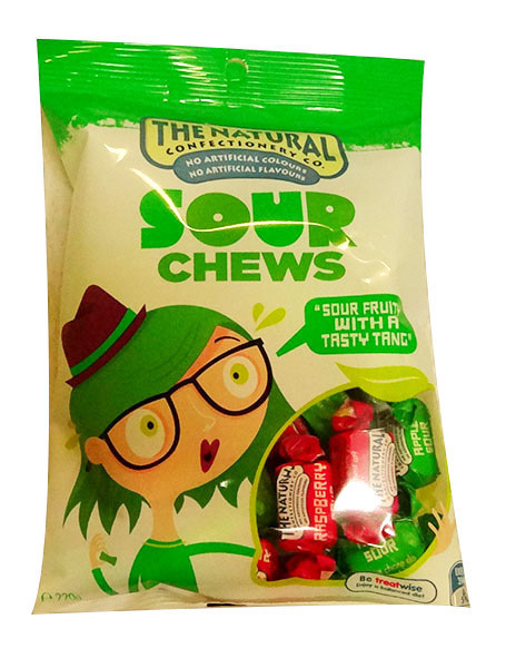 The Natural Confectionery Co. - Chews - Sour, by The Natural Confectionery Co.,  and more Confectionery at The Professors Online Lolly Shop. (Image Number :9980)