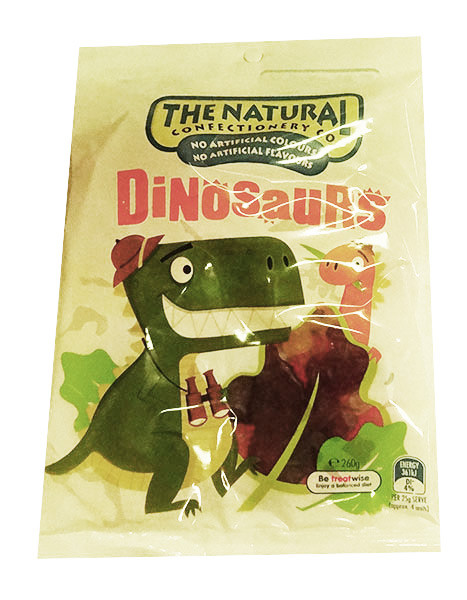 The Natural Confectionery Co. - Dinosaurs, by The Natural Confectionery Co.,  and more Confectionery at The Professors Online Lolly Shop. (Image Number :10029)