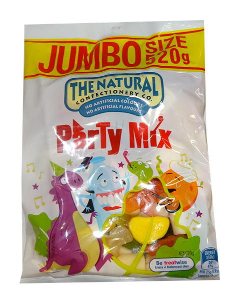 The Natural Confectionery Co. - Party Mix, by The Natural Confectionery Co.,  and more Confectionery at The Professors Online Lolly Shop. (Image Number :9689)
