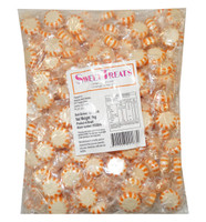 Sweet Treats Starlight Candy - Orange  and White -  Orange, by Brisbane Bulk Supplies,  and more Confectionery at The Professors Online Lolly Shop. (Image Number :9065)