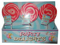 Lolly Mania Party Delights Lollipops - Pink - Strawberry Flavour (24 x 85g)