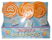 Lolly Mania Party Delights Lollipops - Orange - Orange Flavour (24 x 85g)