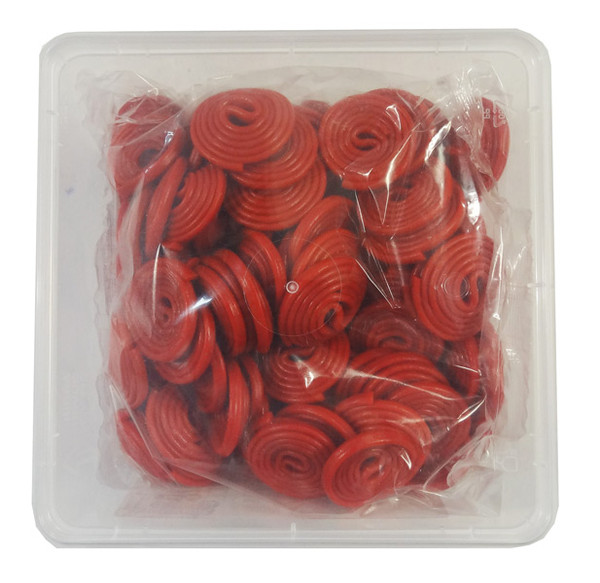 Damel Red Licorice Wheels, by Damel,  and more Confectionery at The Professors Online Lolly Shop. (Image Number :9166)