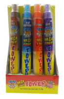 TNT Mega Sour Tower - Candy Spray + Sherbet  (80g x 12pc display unit)