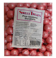 Sweet Treats Shimmer Gumballs Bulk - Pink (1kg bag)