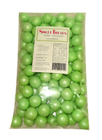 Sweet Treats Shimmer Gumballs Bulk - Green (1kg bag)