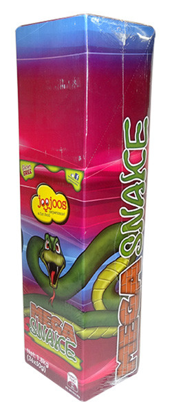 Joo Joos Mega Snakes - Individually Wrapped, by Joo Joo's,  and more Confectionery at The Professors Online Lolly Shop. (Image Number :9837)