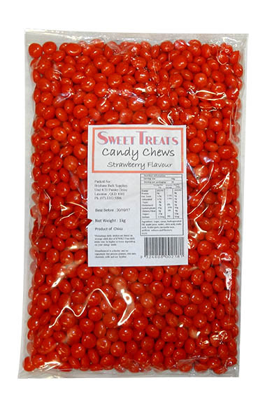 Sweet Treats Candy Chews Bulk - Red, by Brisbane Bulk Supplies,  and more Confectionery at The Professors Online Lolly Shop. (Image Number :9721)