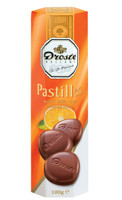 Droste Rolls Orange Crisp Milk Chocolate (100g x 12pc Box)