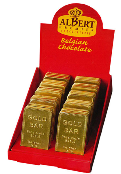 Albert Gold Bullion Bars, by AlBert Premier Chocolatrie,  and more Confectionery at The Professors Online Lolly Shop. (Image Number :9200)