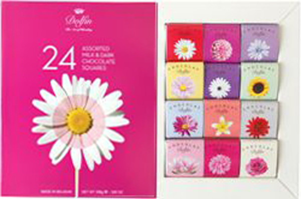 Dolfin Flower Gift Squares - Assorted, by Dolfin,  and more Confectionery at The Professors Online Lolly Shop. (Image Number :9226)