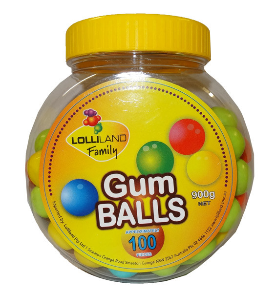 Lolliland Gum Balls, by Lolliland,  and more Confectionery at The Professors Online Lolly Shop. (Image Number :9545)