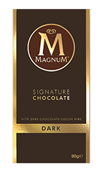 Magnum Block - Single - Dark Chocolate, by Magnum,  and more Confectionery at The Professors Online Lolly Shop. (Image Number :9190)