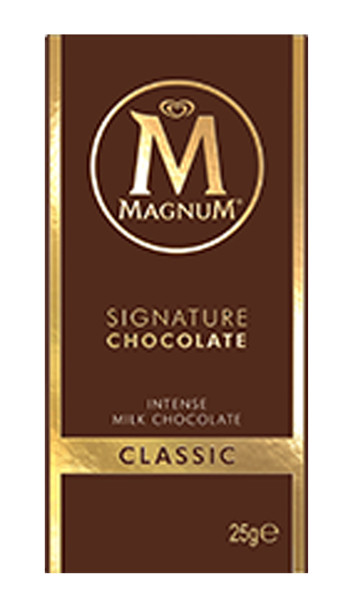 Magnum Block - Single - Milk Chocolate, by Magnum,  and more Confectionery at The Professors Online Lolly Shop. (Image Number :9192)