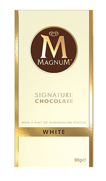 Magnum Block - Single - White Chocolate, by Magnum,  and more Confectionery at The Professors Online Lolly Shop. (Image Number :9194)