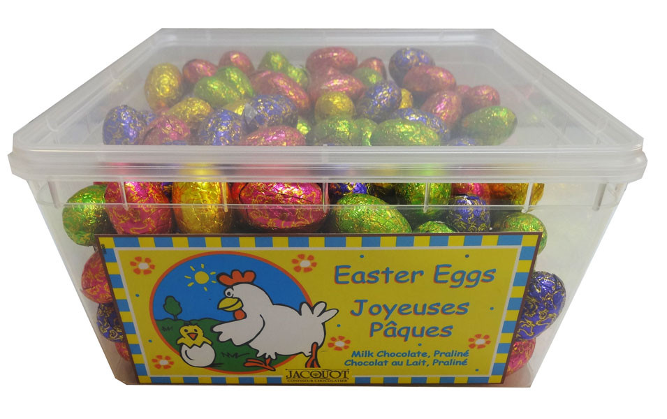 Jacquot Foiled Milk Chocolate Eggs with Praline Filling, by Jacquot,  and more Confectionery at The Professors Online Lolly Shop. (Image Number :9614)