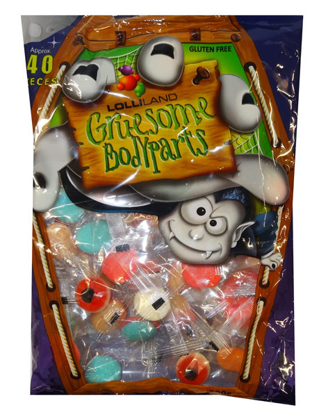 Lolliland Gruesome Gummy Body Parts and more Confectionery at The Professors Online Lolly Shop. (Image Number :9345)