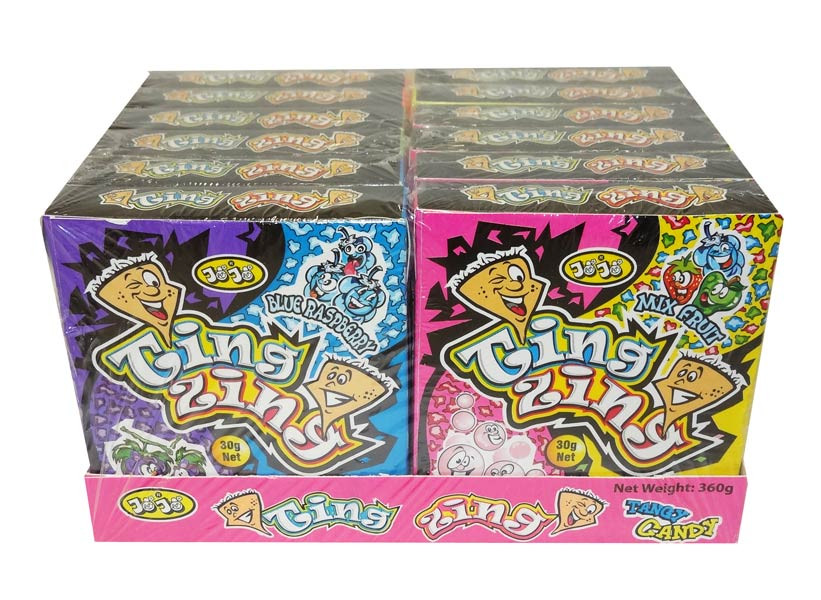 Jojo Ting Zing Tangy Candy, by JoJo,  and more Confectionery at The Professors Online Lolly Shop. (Image Number :9548)