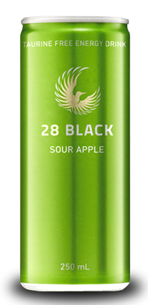28 Black Energy Drink - Sour Apple, by 28 Black,  and more Beverages at The Professors Online Lolly Shop. (Image Number :9346)