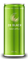 28 Black Energy Drink - Sour Apple (24 x 250ml Cans in a Display Unit)