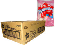 Pascall Marshmallows - Raspberry and Vanilla (125g bag x 12pc box)