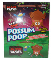 Rude Dudes - Possum Poop - Extra Sour Bubble Gum, by AIT Confectionery,  and more Confectionery at The Professors Online Lolly Shop. (Image Number :9530)