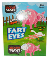 Rude Dudes - Fart Eye - Extra Sour Bubble Gum (200pc display box)