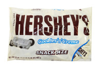 Hersheys Snack Size Cookies and Cream Milk Chocolate Bars, by Hersheys,  and more Confectionery at The Professors Online Lolly Shop. (Image Number :9580)