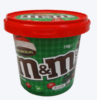 M&M Christmas Bucket, by Mars,  and more Confectionery at The Professors Online Lolly Shop. (Image Number :9437)