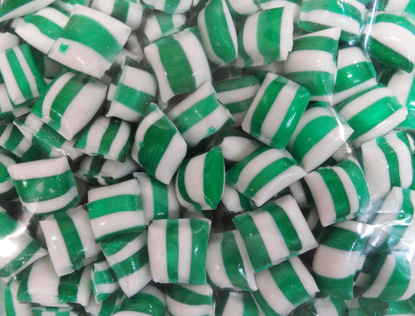 Rock Candy Pillows - Green with a Strawberry Flavour, by Designer Candy,  and more Confectionery at The Professors Online Lolly Shop. (Image Number :9537)
