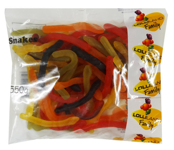 *SPECIAL* Lolliland Snakes - Past Best Before, by Lolliland,  and more Confectionery at The Professors Online Lolly Shop. (Image Number :9808)