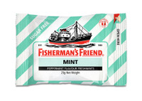 Fishermans Friend - Mint - Peppermint Sugar Free (12 x 25g bags)