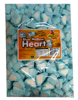 Lolliland Heart Shaped Marshmallows - Blue and White at The Professors Online Lolly Shop. (Image Number :10096)