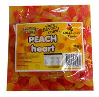 Lolliland Sour Peach Hearts (1kg bag)