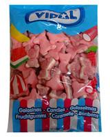 Vidal Gummy Jelly Filled Bears - Pink (1kg bag)