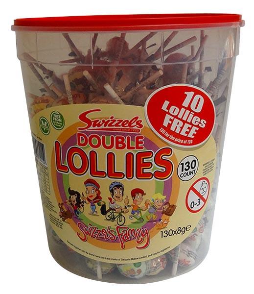Swizzel Double Lollipop Jar at The Professors Online Lolly Shop. (Image Number :10088)