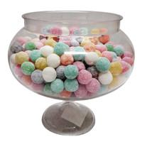 Short Round Pedestal Clear Plastic Candy Buffet Jar (16cm tall - single jar)
