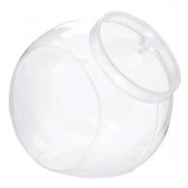 Clear Plastic Counter Container / Jar with Lid and more Partyware at The Professors Online Lolly Shop. (Image Number :10105)