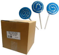 Mini Swirl Pops - Blue and White and more Confectionery at The Professors Online Lolly Shop. (Image Number :10160)