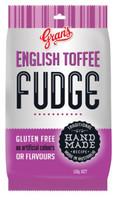 Gran's Hang Sell Bag - English Toffee Fudge (100g bag x 12pc box)
