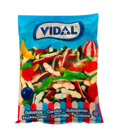 Vidal Tiburones Jelly - Rainbow Sharks (1kg Bag)