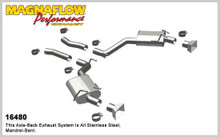 "Magnaflow 2.5"" Stainless Steel Street Series Axle-Back for 2010+ Camaro SS V8 6.2L; Excl. Convertible (GM PERFORMANCE PACKAGE ONLY)"