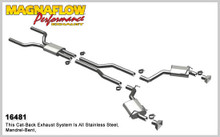 "Magnaflow 2.5"" Stainless Steel Street Series Cat-Back for 2010+ Camaro SS V8 6.2L; Excl. Convertible (GM PERFORMANCE PACKAGE ONLY)"