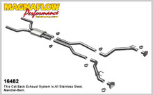 "Magnaflow 2.5"" Stainless Steel Competition Series Cat-Back for 2010+ Camaro SS V8 6.2L; Excl. Convertible (GM PERFORMANCE PACKAGE ONLY)"
