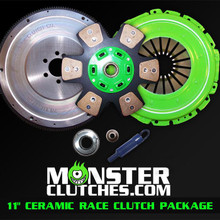 "Monster 11"" Ceramic Race Clutch & Flywheel Package (torque capacity: 850)"