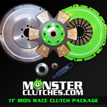 "Monster 11"" Iron Race Clutch & Flywheel Package (torque capacity: 950)"